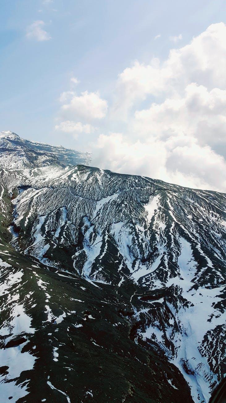 cold glacier snow wood